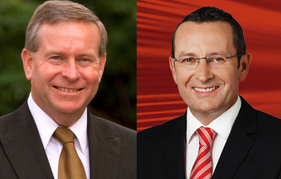 Westralian Premier Colin Barnett and Westralian Opposition Leader Mark McGowan
