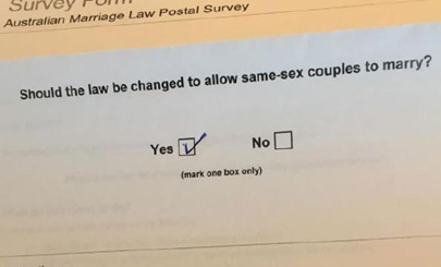 Australian Marriage Law Postal Survey - October 2017